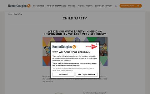 Child Safety | Hunter Douglas