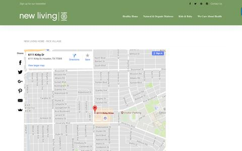 Screenshot of Contact Page newliving.net - Our Locations, New Living-Rice Village / Rest & Rec-Heights - captured Nov. 12, 2017