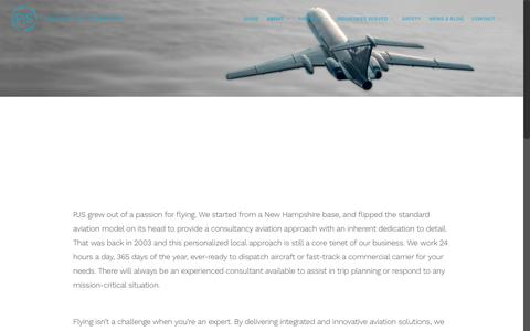Screenshot of About Page pjsgroup.com - About    Private Jet Services   PJS Group - captured April 11, 2016