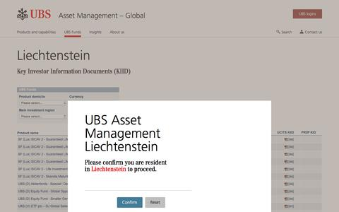 Screenshot of Team Page ubs.com - Liechtenstein | UBS Global topics - captured Nov. 14, 2019