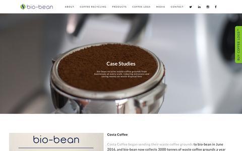 Screenshot of Case Studies Page bio-bean.com - Case Studies - bio-bean - captured Oct. 7, 2018