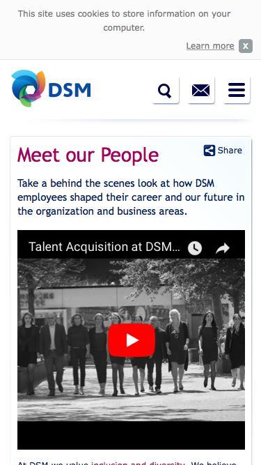 Screenshot of Team Page  dsm.com - Meet our People | DSM