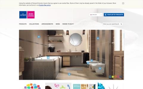 Screenshot of Products Page Menu Page cersanit.com - Cersanit - great ideas for small bathrooms. - captured Oct. 22, 2014