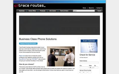 Screenshot of About Page tracerts.com - Business Class Phone Solutions - Trace Routes - captured Oct. 6, 2014