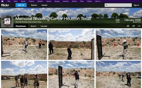 Screenshot of Flickr Page flickr.com - Flickr: Memorial Shooting Center Houston Texas' Photostream - captured Oct. 27, 2014