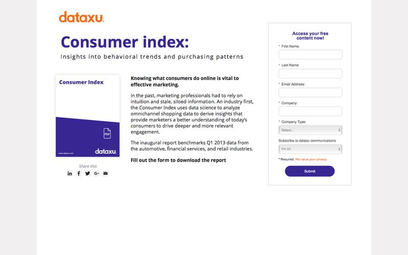 dataxu report: Consumer Index Q1 2013 - download now