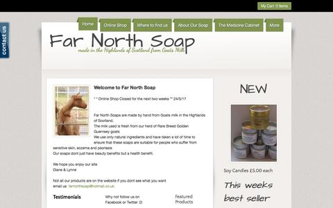 """Screenshot of Home Page farnorthsoap.co.uk - <meta name=""""p:domain_verify"""" content=""""2bc54b426b2c63235aa4f0e0c7c5a825"""" /> - captured Aug. 10, 2018"""