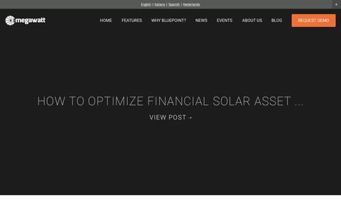 Screenshot of Blog 3megawatt.com - Blog Articles — 3megawatt | Solar Asset Management Software - captured Aug. 4, 2015