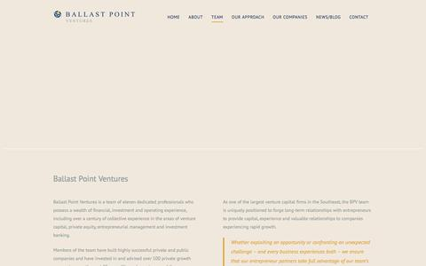 Screenshot of Team Page ballastpointventures.com - Team - captured Oct. 18, 2019