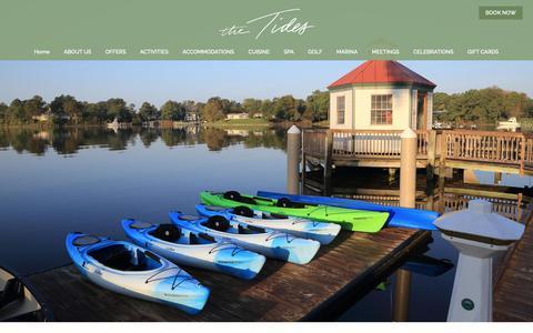 Screenshot of Press Page tidesinn.com - Press & News | The Tides Inn | Irvington, Virginia Accommodations - captured Oct. 20, 2018