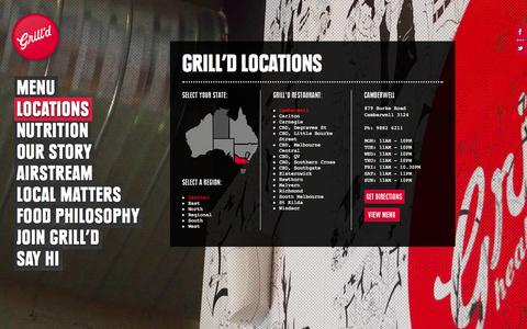 Screenshot of Locations Page grilld.com.au - Grill'd - captured Sept. 19, 2014