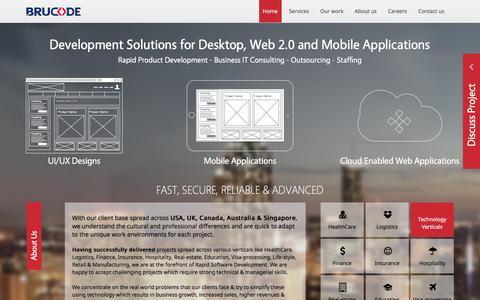 Screenshot of Home Page brucode.com - Brucode Technologies – An IT Giant - captured Feb. 8, 2016