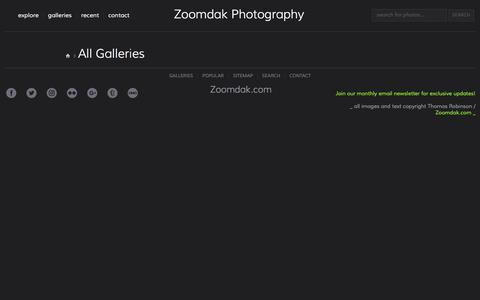 Screenshot of Site Map Page zoomdak.com - All Galleries - Zoomdak - captured Oct. 23, 2016