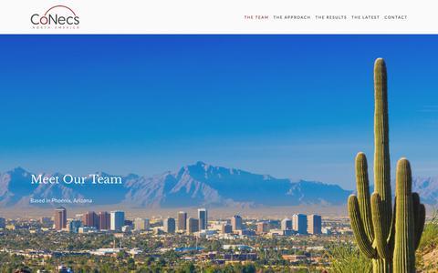 Screenshot of Team Page conecsna.com - The Team — CoNecs North America - captured Sept. 21, 2018