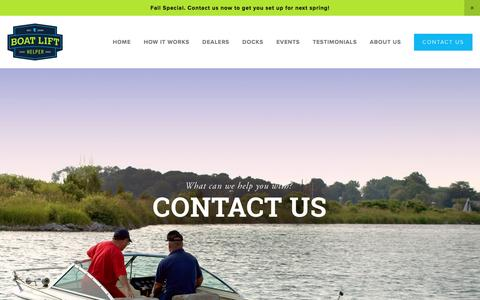 Screenshot of Contact Page boatlifthelper.com - CONTACT US — Boat Lift Installation and Removal | BOAT LIFT HELPER - - captured Nov. 22, 2016
