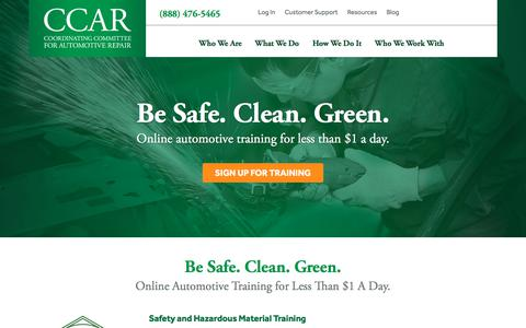 Screenshot of Home Page ccar-greenlink.org - Home - CCAR - captured Sept. 25, 2018