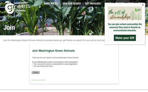 Screenshot of Signup Page wagreenschools.org - Join  ::  Washington Green Schools - captured Dec. 20, 2018