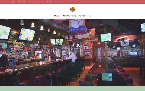 Screenshot of Home Page pepperonistavern.com - Pepperoni's Tavern   Alpharetta, GA - captured July 19, 2015