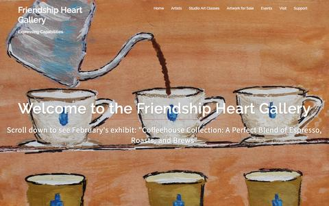 Screenshot of Home Page friendshipart.net - Friendship Heart Gallery – Expressing Capabilities - captured Feb. 10, 2016