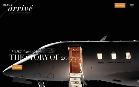 Screenshot of Blog xojet.com - XOJET Arrivé - The Exclusive Magazine of XOJET - captured Jan. 29, 2018