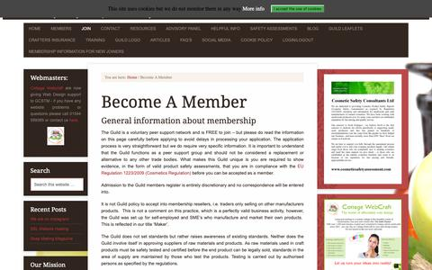 Screenshot of Signup Page gcstm.co.uk - Become A Member - captured Sept. 30, 2018