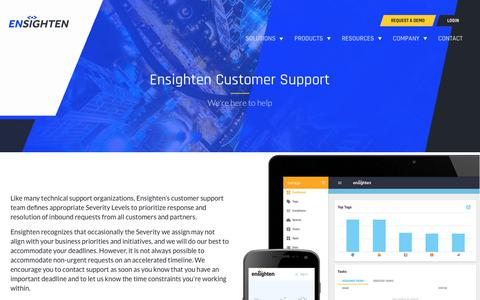 Screenshot of Support Page ensighten.com - Ensighten customer support | Ensighten - captured Aug. 28, 2019