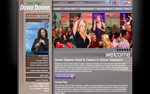 Screenshot of Home Page doverdowns.com - Dover Downs Hotel & Casino in Dover, Delaware - captured Sept. 24, 2014