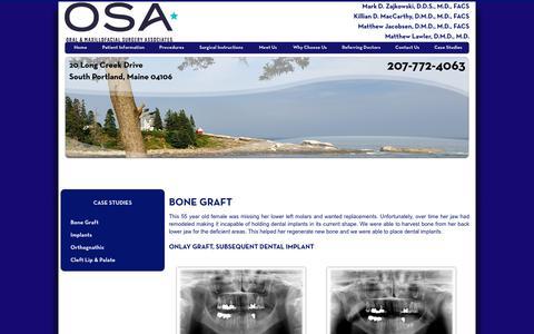 Screenshot of Case Studies Page maineoralsurgery.com - Bone Graft Maine, Oral & Maxillofacial Surgery Associates - captured Oct. 18, 2018
