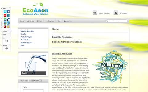 Screenshot of Press Page ecoaeon.ae - Media - EcoAeon UAEEcoAeon UAE - captured Oct. 1, 2014
