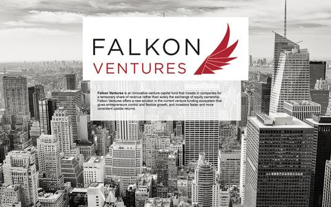 Screenshot of Home Page falkonventures.com - falkonventures - captured Sept. 30, 2014