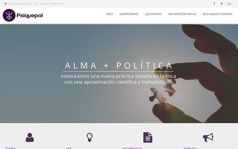 Screenshot of Home Page psiquepol.com - Psiquepol – Monitoreo y  Análisis - captured July 18, 2016