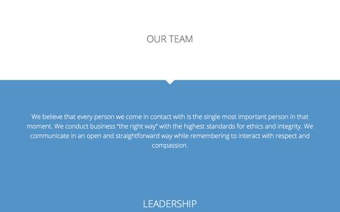 Screenshot of Team Page infinisource.com - Our Team - Infinisource Benefit Services - captured Aug. 12, 2019