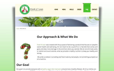 Screenshot of About Page freshnlean.com - About Us | Healthy Meal Delivery Service | Fresh N Lean - captured Aug. 4, 2016