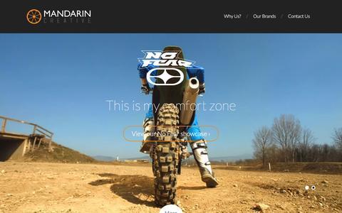 Screenshot of Home Page mandarincreative.com - Brand distribution for lifestyle and streetwear fashion brands   Mandarin Creative - captured Feb. 4, 2016
