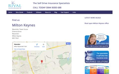 Screenshot of Maps & Directions Page rivalinsurance.co.uk - Find us - captured Oct. 26, 2014