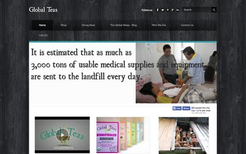 Screenshot of Home Page globalteas.org - Global Teas - Global Teas Home - captured Sept. 30, 2014