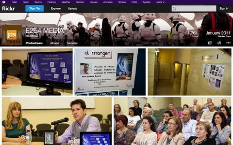 Screenshot of Flickr Page flickr.com - Flickr: E2E4MEDIA's Photostream - captured Oct. 22, 2014