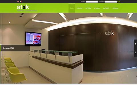 Screenshot of Home Page atxk.com - ATXK | Interior Construction - captured Sept. 24, 2014