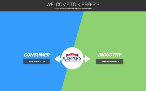 Screenshot of FAQ Page kieffers.com - FAQ - Kieffer's AppliancesKieffer's Appliances - captured July 5, 2017