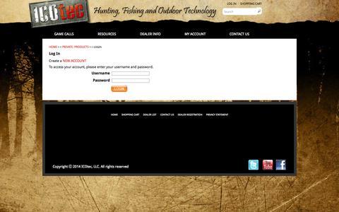 Screenshot of Login Page icotec.com - Login | ICOtec - captured Sept. 30, 2014