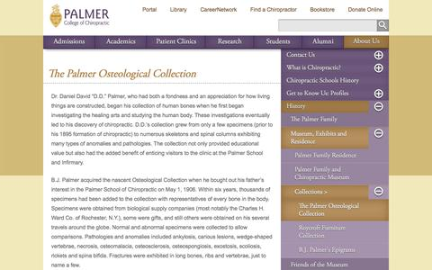 The Palmer Osteological Collection