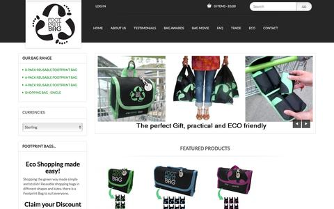 Screenshot of Home Page footprintbag.com - Footprint Bag - Reusable Shopping Bags, STORE_TITLE - captured Dec. 13, 2017
