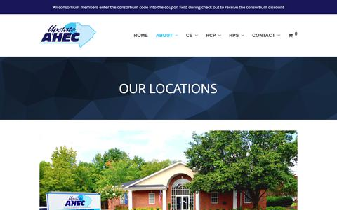 Screenshot of Locations Page upstateahec.org - LOCATIONS – Upstate AHEC - captured June 12, 2017