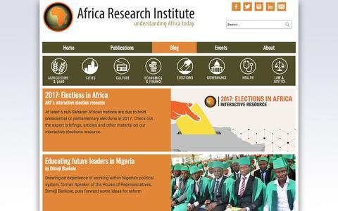 Screenshot of Blog africaresearchinstitute.org - ARI Blog - Africa Research Institute - captured May 29, 2017
