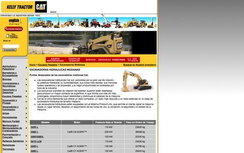 Screenshot of Landing Page kellytractor.com - Kelly Tractor Excavadoras Hidráulicas Medianas - captured Aug. 12, 2016