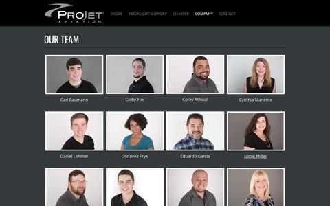 Screenshot of Team Page projetaviation.com - ProJet Aviation | Leesburg, VA | Our Team - captured May 22, 2017