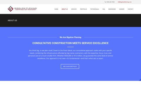 Screenshot of About Page bigelowfleming.com - Bigelow Fleming | General Contractors | Design/Build | Contractor - captured Jan. 3, 2016