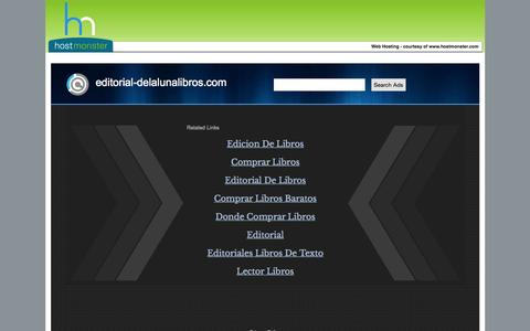 Screenshot of Home Page editorial-delalunalibros.com - Welcome editorial-delalunalibros.com - Hostmonster.com - captured Oct. 19, 2015