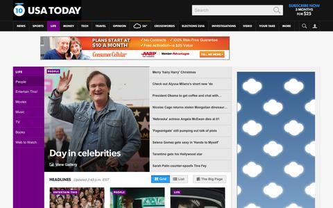 Screenshot of Team Page usatoday.com - Celebrity Photos, Videos and Interviews - USATODAY.com - captured Dec. 22, 2015