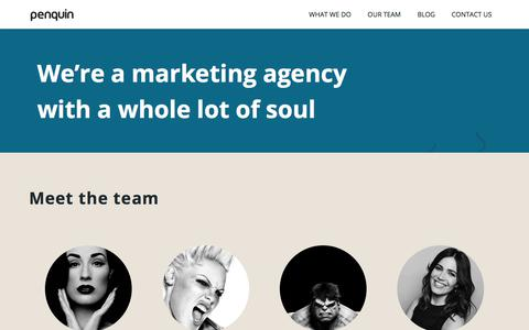 Screenshot of Team Page penquin.co.za - Our Team | Penquin Advertinsing Agency - captured July 16, 2018